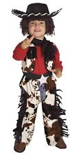 Boys Cowboy Costume Chaps Cow Boy Hat Wig Childs Toddler Halloween Western Kids