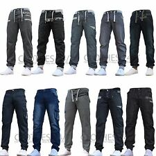 New Mens ENZO Designer Cheap Cuffed Jogger Jeans Pants Waist Size 28-48 Sale
