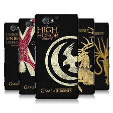 OFFICIAL HBO GAME OF THRONES HOUSE MOTTOS HARD BACK CASE FOR SONY PHONES 4