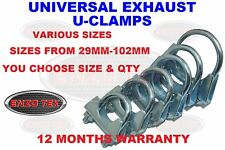 UNIVERSAL EXHAUST CLAMP U BOLT CLAMPS 28MM-102MM AUTO TV AERIAL PIPE HOSE