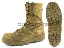 US Military USMC HOT WEATHER Coolmax Brown COMBAT BOOTS Vibram Sole USA Made VGC