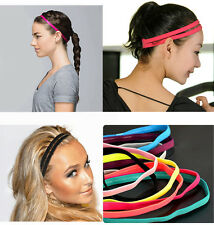 Women Men Sport Hairbands Sports Headband Helpful Anti-slip Elastic Hairbands