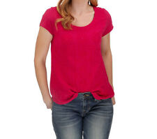 Lucky Brand Women's Embroidered Tee Cerise 7W62493