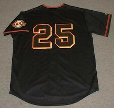 BARRY BONDS San Francisco Giants 2001 Majestic Throwback Baseball Jersey