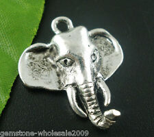 Wholesale W09 Silver Tone Elephant Charms Pendants