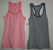 OLD NAVY WOMENS COTTON SPANDEX STRIPED RACERBACK TOP TANK TOP