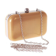 NEW Women's Leather Evening Bag Handbag Lady Business OL Clutch Chain Bag Purse