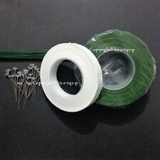 DIY Corsage Pack 50g Green Wire + Parafilm® Florist Wrap Tape + 25 Diamante Pin