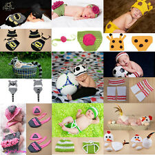 Cute Newborn Infant Baby Crochet Knitted Costume Animal Clothes Photography Prop