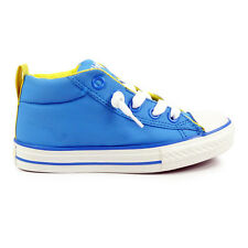 Junior Converse Chuck Taylor Street Mid Slip On Blue Trainers