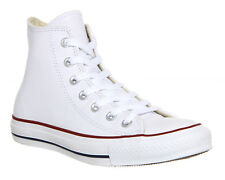 Converse All Star Hi Lthr OPTICAL WHITE  Trainers Shoes