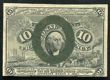 10 TEN CENTS SECOND ISSUE FRACTIONAL CURRENCY NOTE UNCIRCULATED