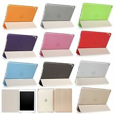 Ultra Slim Clear Stand Folio Wallet PU Leather Case Smart Cover For Apple iPad