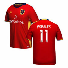 Youth adidas Javier Morales Red Real Salt Lake 2016 Replica Primary Jersey - MLS