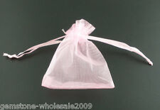 Wholesale NEW 7x9cm Pink Organza Jewelry Bags Draw String X-mas Favor