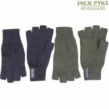 Jack Pyke Fingerless Mitts Thinsulate Thermal Black or Green Gloves