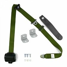 3-Point Seat Belt Retractable Army Green for 1965 - 1976 Impala