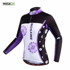 Women Cycling Bicycle Bike Outdoor Shirt Long Sleeve Jersey Top Jacket S-XXL
