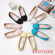 Women Sweet Girls Flat Heel Loafers Shoes Pull On Moccasin-gommino ballet Shoes