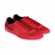 Lacoste Taloire Sport Mens Red Leather Lace Up Sneakers Shoes