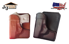 SMITH & WESSON S&W BODYGUARD 380 FACT. LASER WALLET STYLE LEATHER POCKET HOLSTER