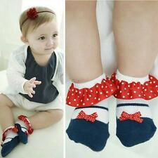 Lovely Toddler Baby Girl Lace Anti-slip Princess Socks Cotton Ankle Sock Shoes