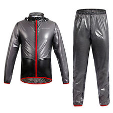 Cycling Jersey Coat Rain Coat Windproof Waterproof Bike Bicycle Jacket Pant Set