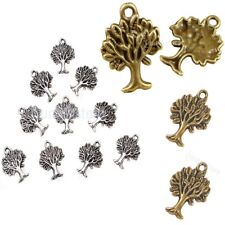 10pcs Life of Tree Pendants DIY Jewelry Making Charms