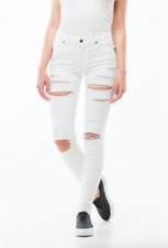 Dr Denim Regina Ripped Jeans - White