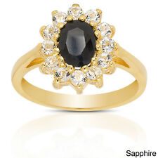 Dolce Giavonna Sterling Silver Multi Gemstone Flower Cocktail Ring