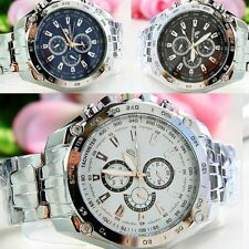 New Fashion Mens Watches Quartz Stainless Steel Analog Sports Wrist Watch