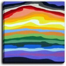 'Mountain Stripes' by Jackie Phillips Painting Print on Wrapped Canvas