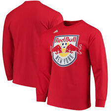 Men's adidas Navy New York Red Bulls Logo Set Long Sleeve T-Shirt - MLS