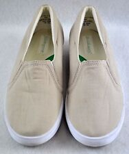 Grasshoppers Stretch women's casual canvas athletic shoes, Size 8M, Tan, Clean