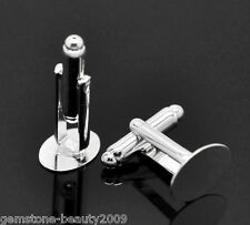 Wholesale HX SP Oval Cabochon Setting Cuff Links 14x25mm(Fit 14x10mm)