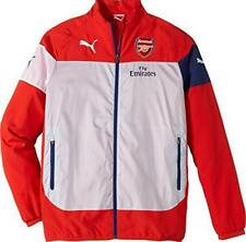 Arsenal FC Mens LEISURE Track top Jacket PUMA 746382-01 Zip up LARGE,XL,XXL RED