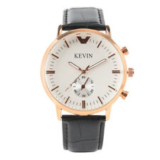 Cool KEVIN Analog Sport Military Men Women Lady Wrist Watch Quartz Leather Band