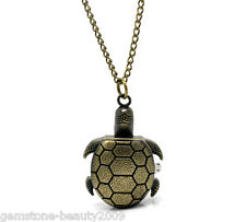Wholesale Lots Jewelry Tone Necklace Quartz Tortoise Pocket Watch 87cm