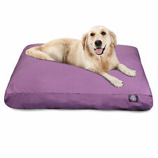 Solid Color Outdoor Indoor Rectangle Dog Bed by Majestic Pet