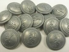 New Lots of Silver Military Metal Buttons Royal Crest 13/16, 5/8, 1 inch (S30)