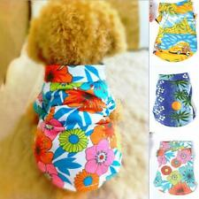 1pc Pet Dog Clothes Costume Hawaiian Summer T-Shirt Apparel Beachwear XS-XL New