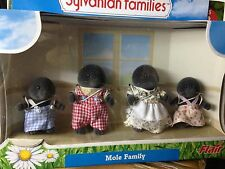 Sylvanian Families Mole Father Mother Sister Brother Family Play Set of 4 figure