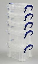 Sizes 0.07 - 2.1 Litre Really Useful Boxes (PACKS of 10) Small Clear Storage Box