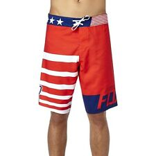Fox Racing Men's Red White and True Board Shorts American Flag Boardshorts Stars