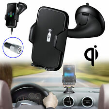 Qi Wireless Car Charger Holder Dock Kit Mount for CellPhone Samsung iPhone