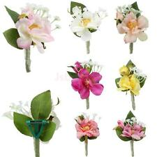 Artificial Wedding Bridal Groom Corsage Flower Brooch Pin Choose Colors