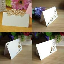 50pcs White Laser Cut Placecards Wedding Guest Party Name Table Place Cards