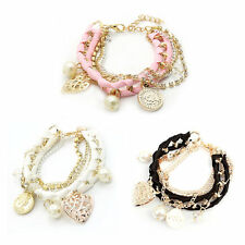 Bangle Lovely Cute Korean-style Hand-woven Fashion Multilayer Bracelet F5