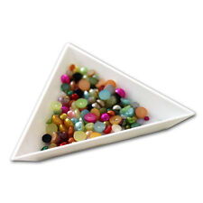 Triangle Rhinestone Gems Crystals Craft Beads Sorting Tray Nail Art Plastic Tool