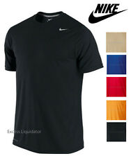 NIKE LEGEND MENS ATHLETIC SHORT SLEEVED DRI-FIT POLY SHIRT, NEW!